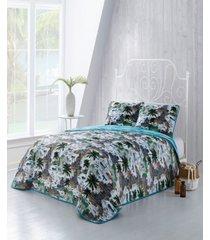 havana 3-pc. queen tropical reversible quilt set