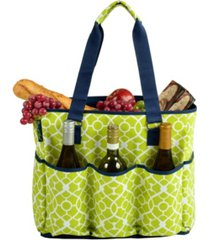 picnic at ascot large insulated six pocket travel bag-zip top - leak proof lining