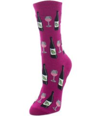 memoi wine glass women's novelty socks