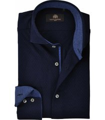 circle of gentlemen overhemd micro print jersey cutaway slim fit