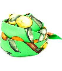 hermès pre-owned fruit print bandana - green