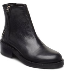 district ankle boot shoes boots ankle boots ankle boot - heel svart royal republiq