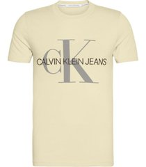 polera slim vegetable monogram amarillo calvin klein