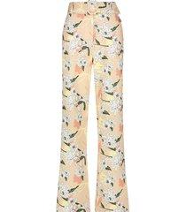 josh v wijde high waist broek model penelope kleur peony flower bohemian nude