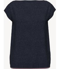 tommy hilfiger women's essential solid sweater t-shirt masters navy - l