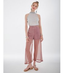 spodnie z mieniącej się tkaniny