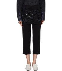 embellished lace apron pants