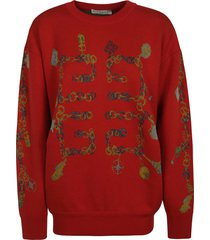 givenchy oversize embroidered sweater
