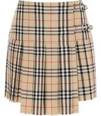 burberry zoe mini skirt in vintage check wool