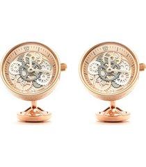 vintage dye rose gold plated watch gear cufflinks