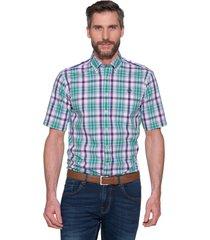 campbell casual shirt met korte mouwen paars