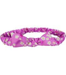 faixa de cabelo ecokids place com elástico e laço margaridas rosa