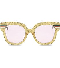51mm glitter square sunglasses