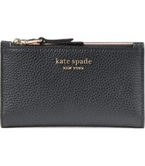 kate spade new york roulette small slim bifold leather wallet