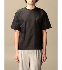 emporio armani t-shirt emporio armani nylon t-shirt with lasered logo