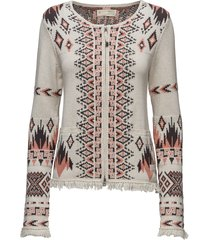 chillax cardigan gebreide trui cardigan multi/patroon odd molly
