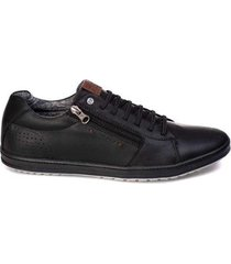 sapatênis tchwm shoes couro com zíper masculino - masculino