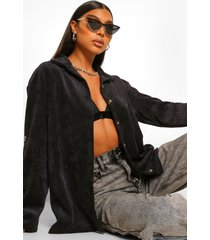tall corduroy blouse, black