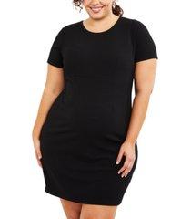 motherhood maternity plus size plaid dress