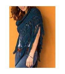 100% alpaca shawl, 'andean empress' (peru)