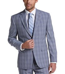 perry ellis premium gray plaid slim fit suit