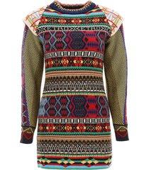 etro jacquard knit mini dress