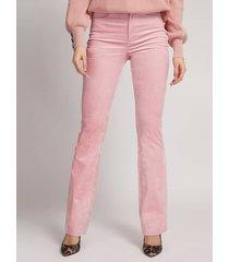 welurowe spodnie z domieszką bawełny