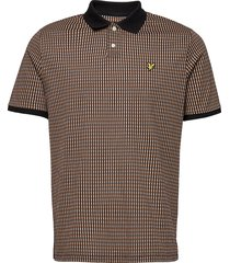 retro repeat polo shirt polos short-sleeved brun lyle & scott
