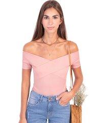 blusa campesina con cruce en escote flashy