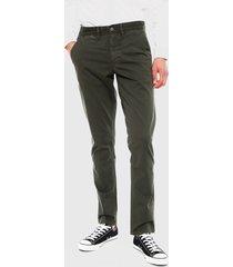 pantalón pepe jeans blackburn minimal verde - calce slim fit
