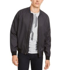 alfani men's deep twill bomber jacket, created for macy's
