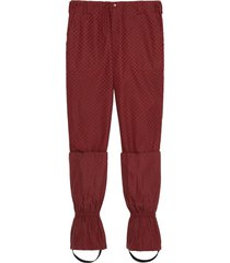 gucci mini gg pattern trousers - red