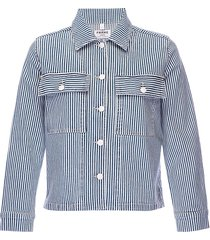 frame women's engineer striped denim jacket - normandie - size xs