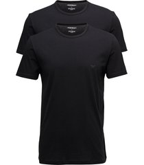 mens knit 2pack tsh t-shirts short-sleeved svart emporio armani