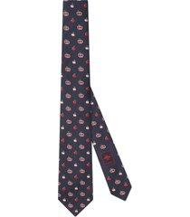 men's gucci gg apple silk jacquard tie