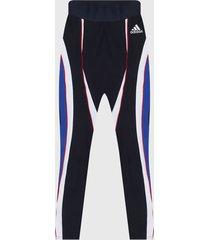 leggings azul-blanco-rojo adidas performance colorblock