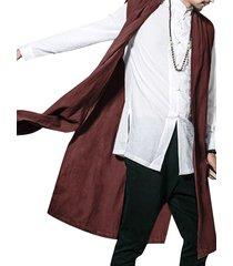 hombres estilo chino vendimia cárdigan sin mangas con gradas sueltas de algodón