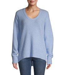 open neck wool sweater