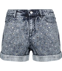 alice + olivia denim shorts