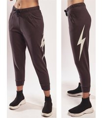pantalón negro lightning bolt lb w
