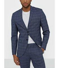 selected homme slhslim-mylobill blue check blz b n kavajer & kostymer mörk blå