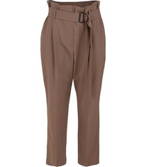 tropical wool d-ring belt pant