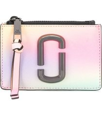 marc jacobs the snapshot mirrored compact wallet - pink