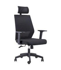 cadeira de escritório diretor giratória braga preta