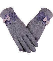 donna guanti eleganti invernali caldi in gomito e pizzo con touch screen