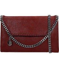 stella mccartney falabella shoulder bag in bordeaux faux leather