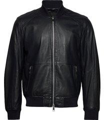 armani exchange blouson jacket leren jack leren jas zwart armani exchange