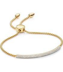 gold fiji diamond mini bar bracelet diamond