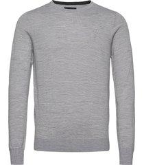 bs jupiter stickad tröja m. rund krage grå bruun & stengade