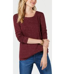 style & co long-sleeve t-shirt, created for macy's